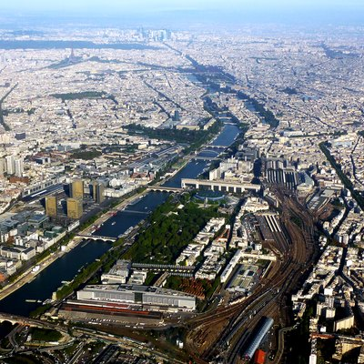 Aerial photograph of Paris.