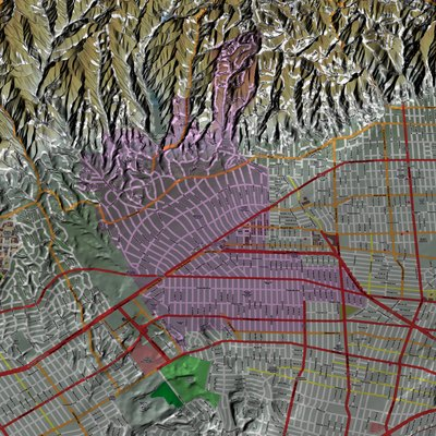 Beverly Hills, California, computer image generated using TruFlite