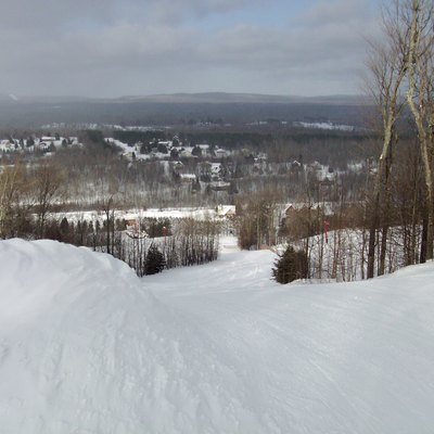 Big Powderhorn Mountain ski resort - view from Dynamite Trail