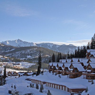 Photo of a resort at Big Sky, Montana.
