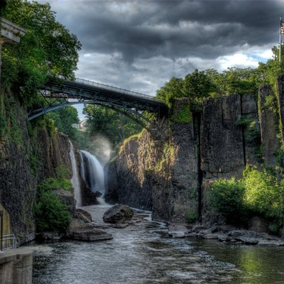 Great Falls Of The Passaic River In Paterson, New Jersey.