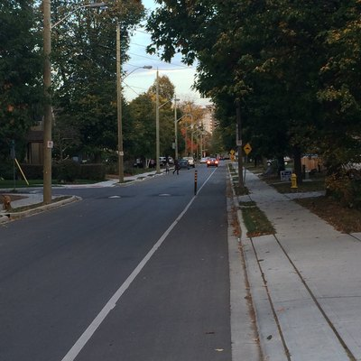 Bike Lane in Wortley Village London Ontario