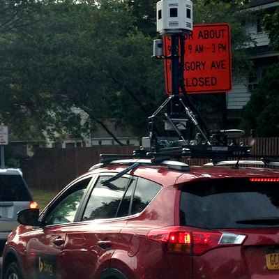 Bing Maps Streetside car with cameras on the roof