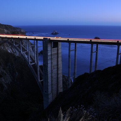 Big Sur. Bixby Bridge at night