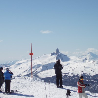 Black Tusk As Seen From Whistler Mountain In March, 2007