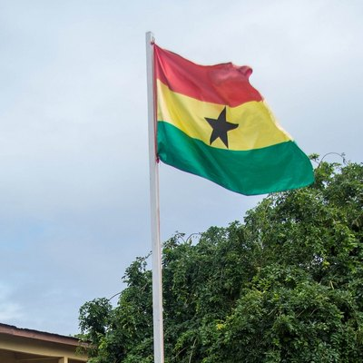 The Flag of Ghana and the Black Star.