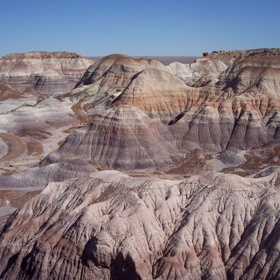 The Painted Desert, seen from Blue Mesa, Petrified Forest National Park, Arizona.