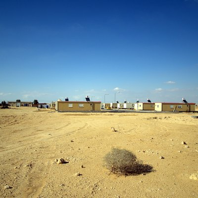 A Blueprint Negev planned community comprised of mobile homes in the Negev desert of Israel.