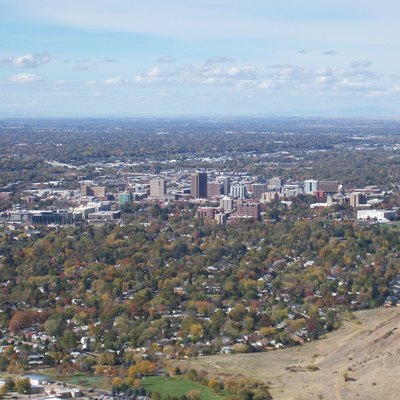 Bird's-eye view of Boise, Idaho in 2007.