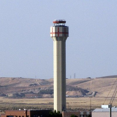 The new Boise Airport control tower under construction, Boise, Idaho, United States.