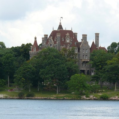 Boldt Castle, Located On Heart Island (New York) In The Thousand Islands Of The St. Lawrence River Opposite Alexandria Bay.