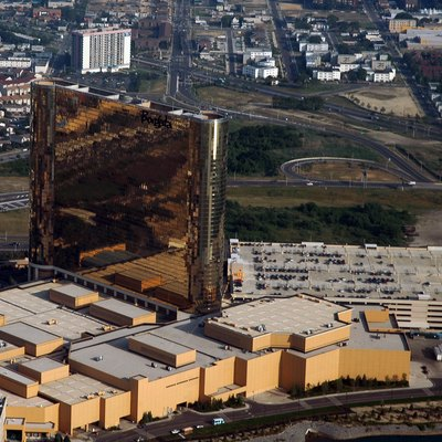 Self made image. GDFL. Aerial view of the Borgata complex. Hotel, Casino, and Spa in Atlantic City, New Jersey