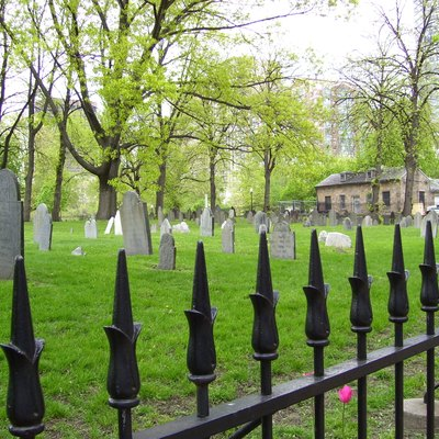 My 2008 photo of the Central Burying Ground on Boston Common in Massachusetts.