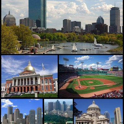 A Modified Version Of The Boston Montage Photo, Added New Photos Of Boston Common And The Financial District.