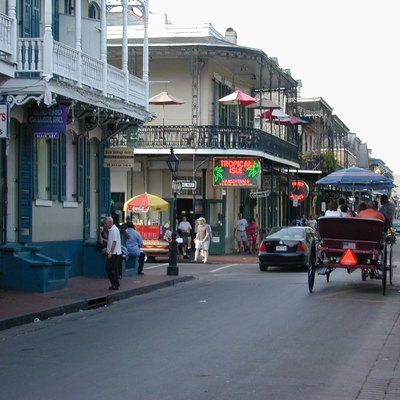 Bourbon Street, New Orleans. Picture taken by Jan Kronsell, June 2002.