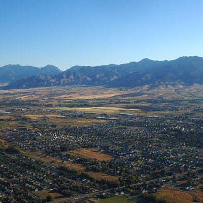 Areal view of Bozeman, Montana, USA