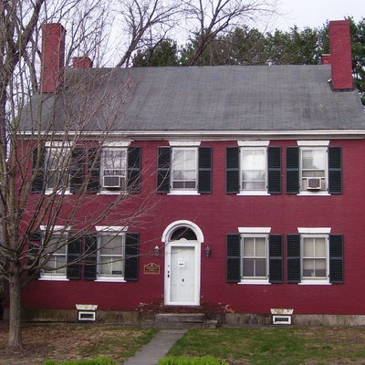 The Jeremiah Beal House Museum, at 974 Western Avenue in West Brattleboro, Vermont, was built c.1805 and is the headquarters of the Brattleboro Historical Society, which was founded in 1982. (Sources: Historical plaque on the Beal House and