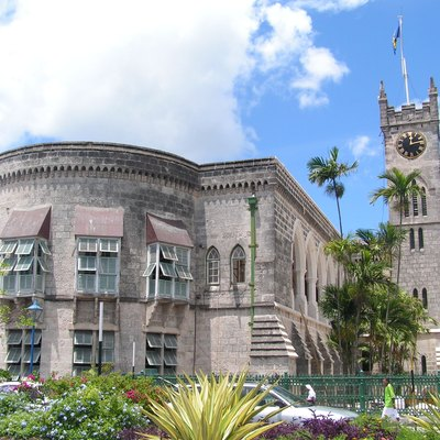 Parliament building (west wing) in Bridgetown, Barbados