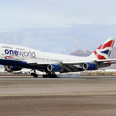 British Airways Boeing 747-436 G-CIVD Landing at Las Vegas McCarran Int'l Airport - KLAS