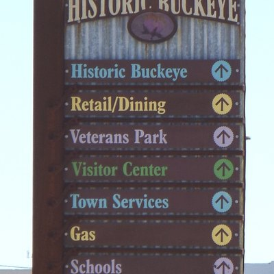 Entrance to the town of Buckeye, Arizona.