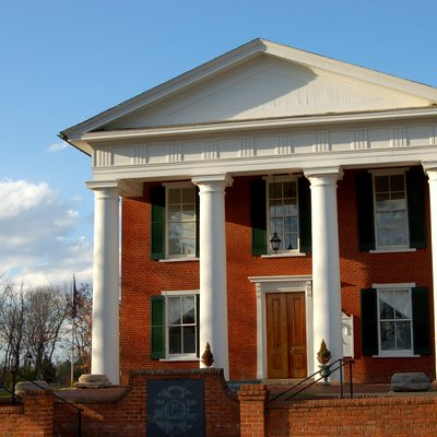 Buckingham County Courthouse In Buckingham, Virginia, Usa