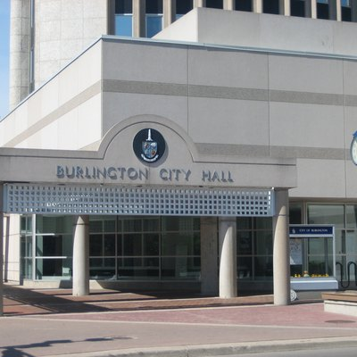 The photo is of the city hall in Burlington, Ontario, Canada. The photo was taken by Andrew Lynes, on May 21, 2007. It was taken for use in the Burlington, Ontario article.