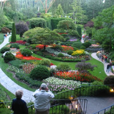 The Sunken Garden at Butchart Gardens in Victoria, BC