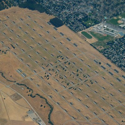 Concord Naval Weapons Station, Concord, CA, USA. Image taken from aboard an intercontinental flight out of SFO.