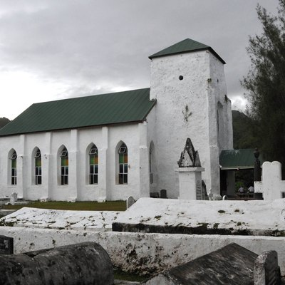 Cicc Church In Avarua Built In 1853 And Fashioned From Coral And Limestone. Avarua Is The Capital On Rarotonga. Cicc Stands For Cook Islands Christian Church