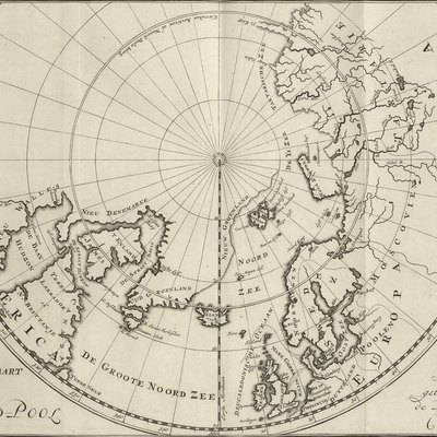 C.G. Zorgdragers map of the North Pole from 1720
