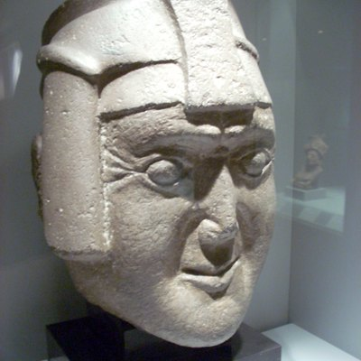 Diorite Inca sculpture from Amarucancha in Peru. 1400-1532 AD. Known as the