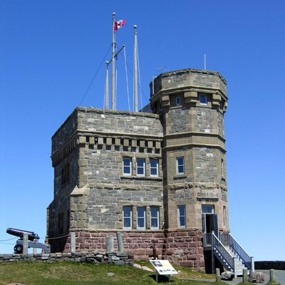 Cabot Tower in St. John's, Newfoundland 1897-1900