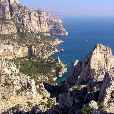 The Calanque of Sugiton in the 9th arrondissement of Marseille