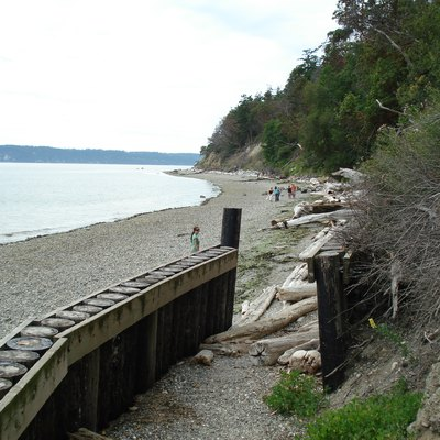 The beach at Camano Island State Park.