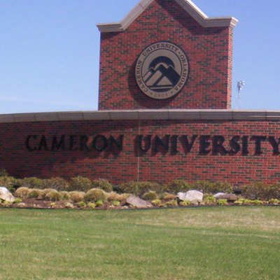 A picture of a sign that is in front of Cameron University Lawton, Oklahoma.