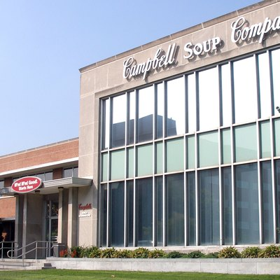 The entrance to the sprawling Campbell Soup Company headquarters complex at Campbell Place in Camden. Photographed by user Coolcaesar on August 30, 2007.