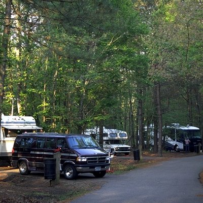 RV area at Chicot State Park in Evangeline Parish.