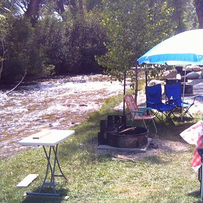 Camping along Chalk Creek at a local campground. Taken 2008.
