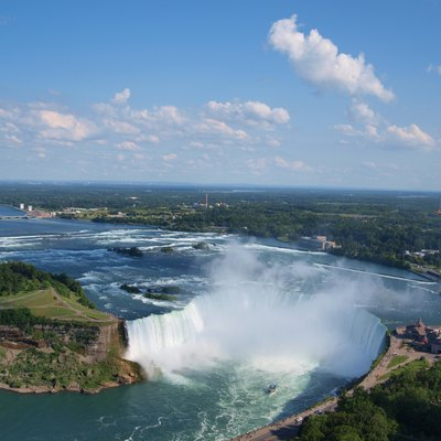Canadian Horseshoe Falls . Clicked from Skylon Tower, Niagara Falls, Canada.