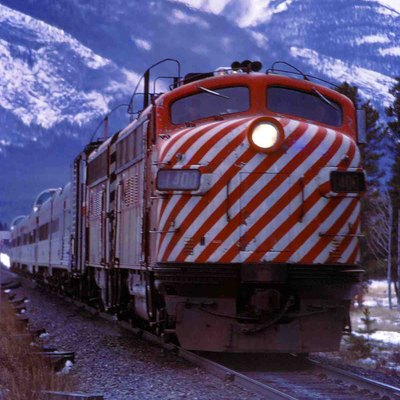 Canadian Pacific Passenger Train Heading East Towards Calgary