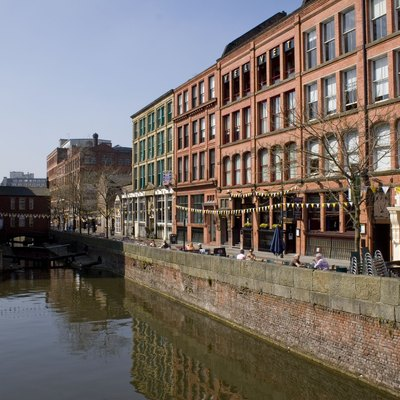 Canal Street, viewed from Minshull Street in Manchester