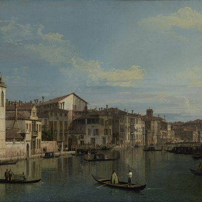 The Grand Canal In Venice From Palazzo Flangini To Campo San Marcuola, Canaletto, About 1738. The J. Paul Getty Museum, Los Angeles.