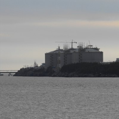 Canaport LNG Terminal nearing completion, Saint John County, NB