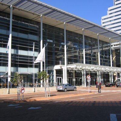 The main entrance to the International Convention Centre, Cape Town, South Africa.