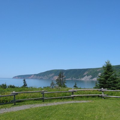 The cliffs of Cape Chignecto, taken from the entrance to Cape Chignecto Provincial Park close to Advocate Harbour, Nova Scotia, Canada.