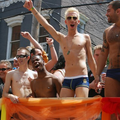 Capital Gay Pride parade in Albany, New York, USA in 2009.jpg