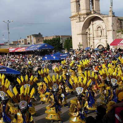 Morenada dance, in the Carnival of Juliaca – Peru