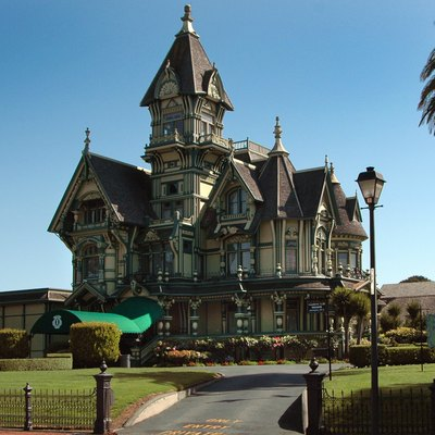The Carson Mansion - is a Queen Anne Victorian mansion at 143 M Street in Eureka, Northern California. Built for lumber baron William Carson, the building is a private club, not open to the public and is not a registered state or historic landmark. Taken with a Nikon D70.