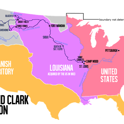 Route of the Lewis and Clark Expedition