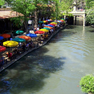 Casa Rio restaurant along the shores of the San Antonio River Walk.